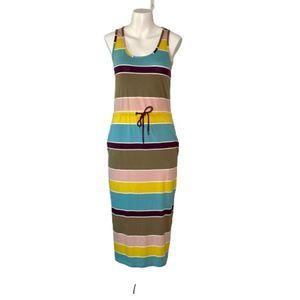 Boden Sleeveless Striped Maxi Dress w/ Pockets 2R